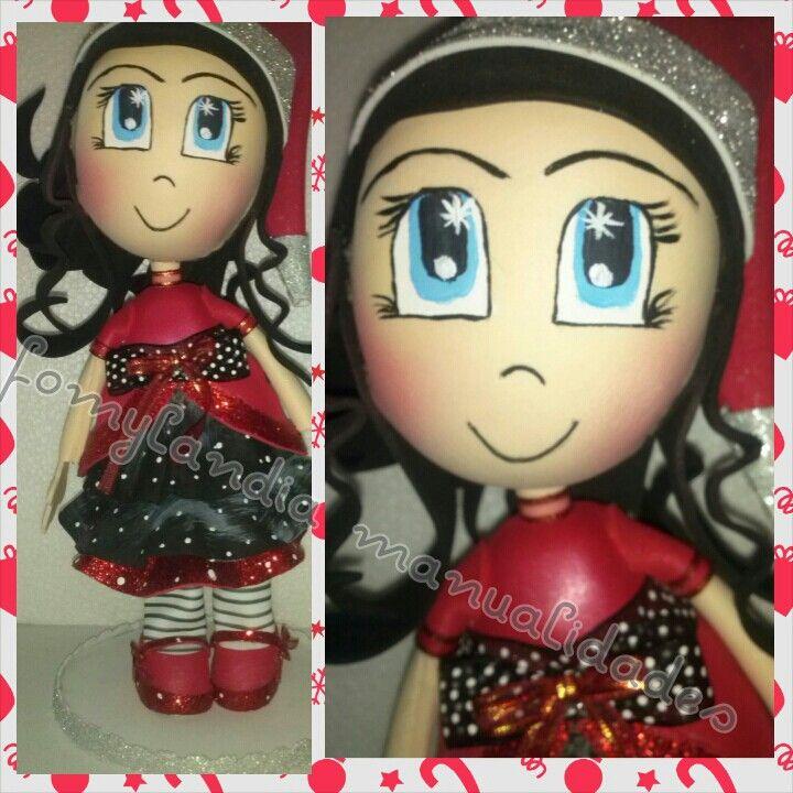 muñeca navidad