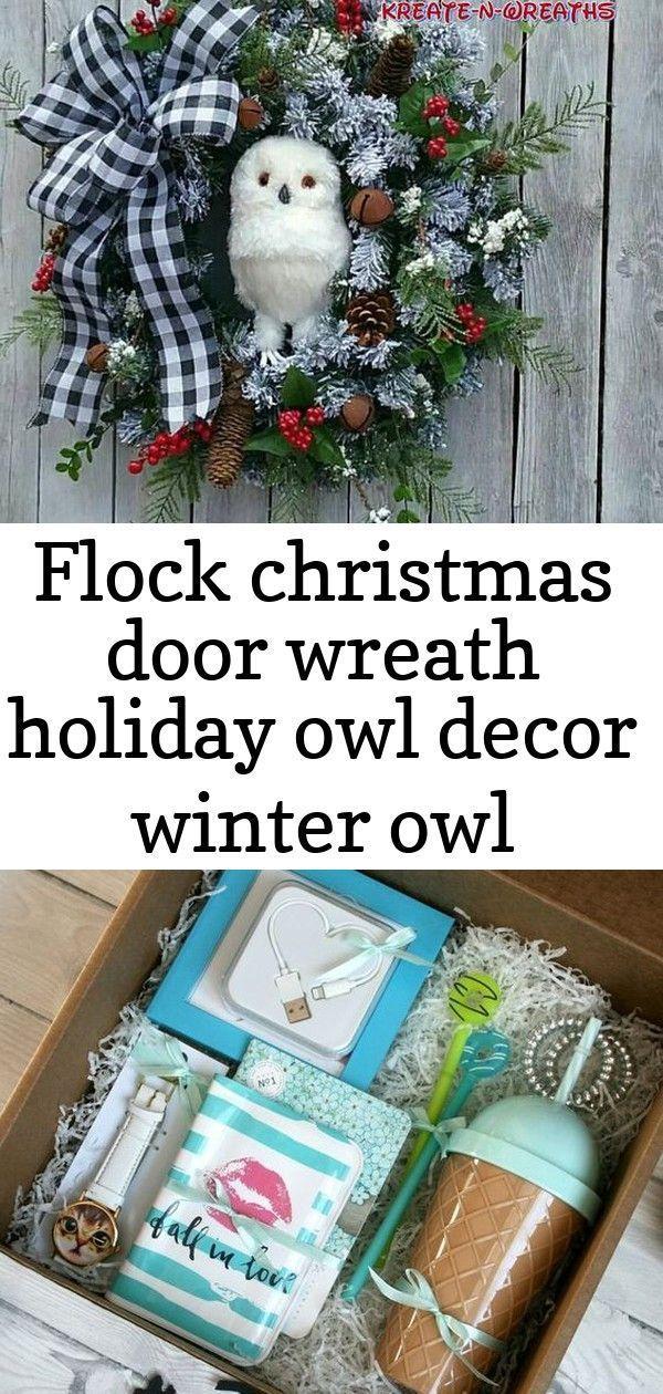 Multitud guirnalda de puerta de navidad vacaciones búho decoración wint / #bú…