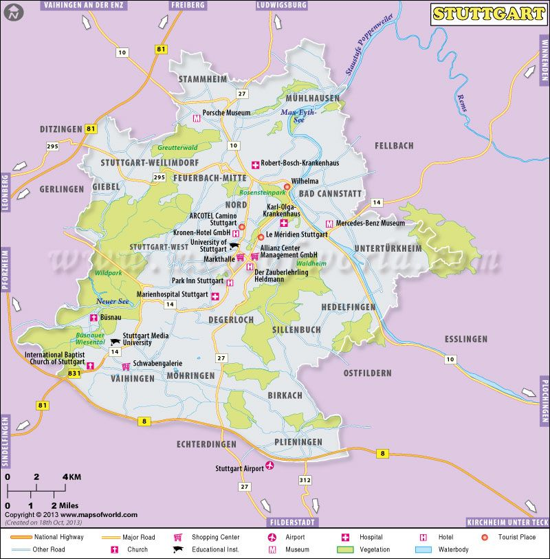 Map Of Stuttgart Germany Stuttgart Ditzingen Weilimdorf