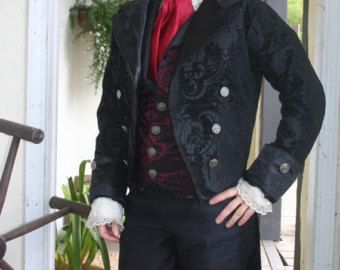 gothic Steampunk cutaway victorian style Jacket made to order coat swallow tail cutaway jacket