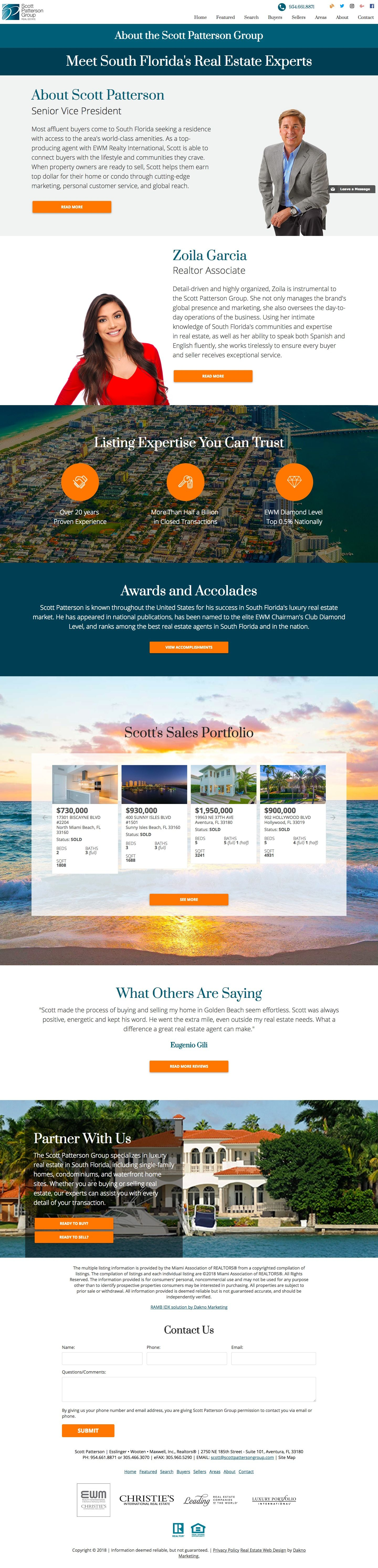 The Best Real Estate Website Staff Pages Designed By Dakno Marketing Tell Your Story To Help Connect South Florida Real Estate Florida Real Estate Real Estate