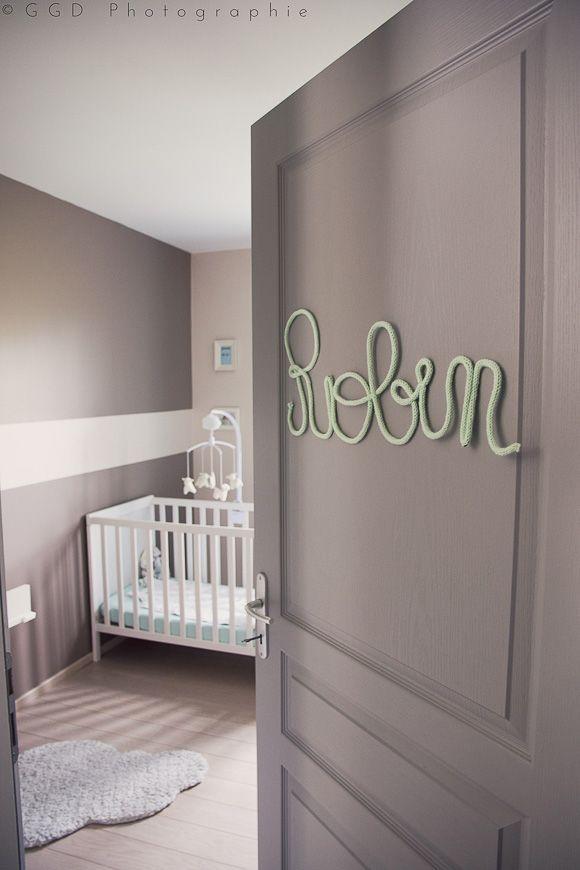 La chambre bébé de Robin | Chambre enfant | Chambre bébé vert d\'eau ...