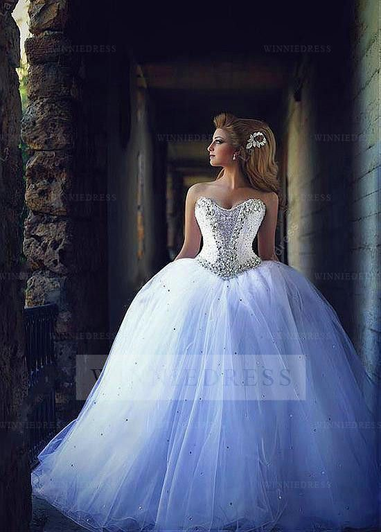 Chic-Tulle-Sweetheart-Neckline-Ball-Gown-Wedding-Dress-With ...