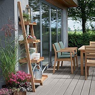 Normandie Regal Teak Mehr Gartenregal Aussenwanddekorationen Aussenregale
