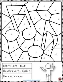 Music Color by Music Note Coloring Page: Free Music