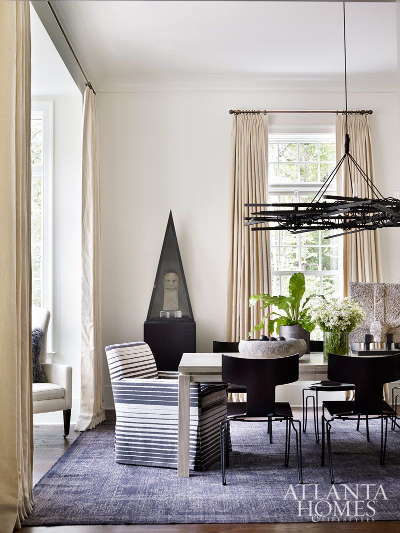 Dining room design by lanah jackson robert brown interior design photographed by emily followill atlanta homes lifestyles