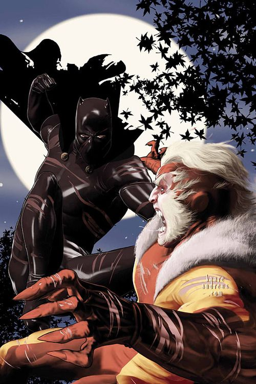 Black Panther Vs Sabretooth Black Panther Marvel Black Panther Black Comics