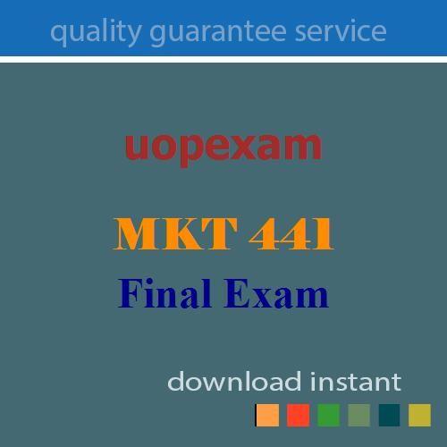 MKT 441 Final Exam