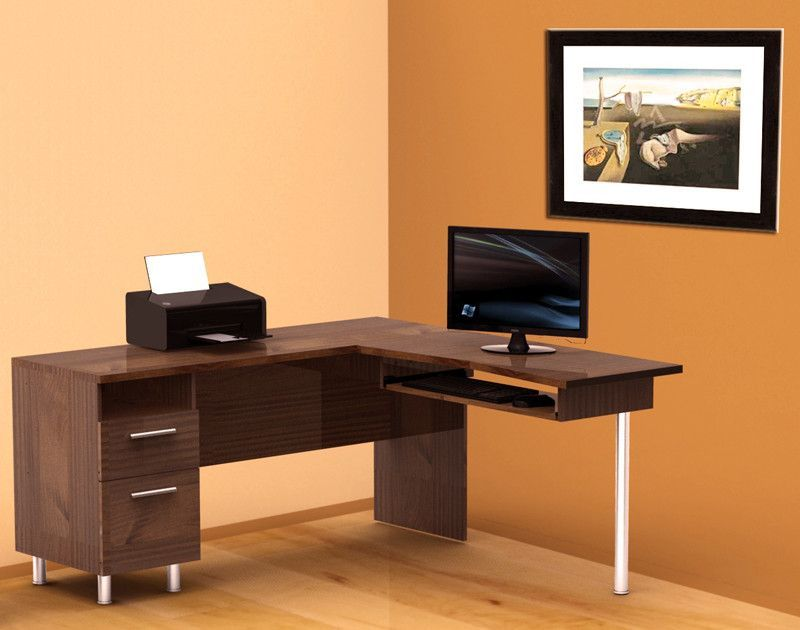 buy Nexera Aero Lite Reversible L Shape Workstation in Truffle at