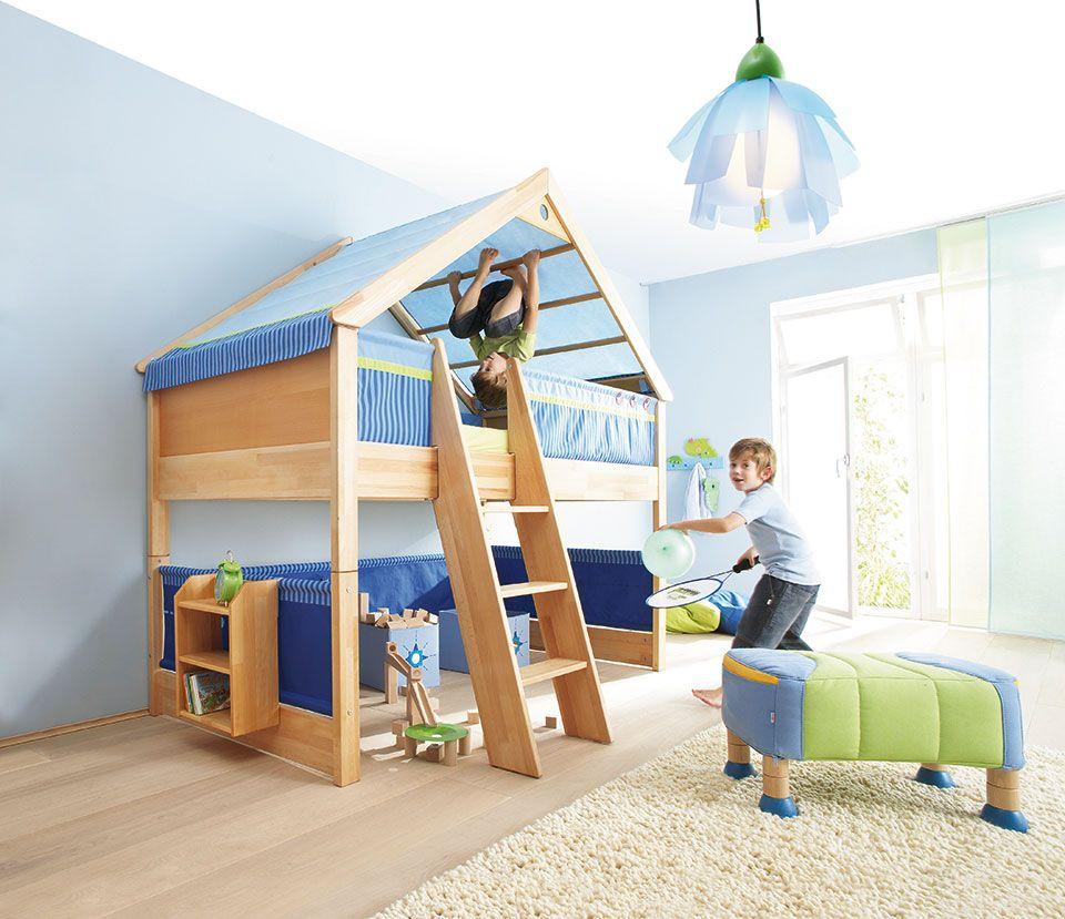 Haba Matti Giebel Spielbett Buche Kinderhochbett Loft Betten Und Coole Kinderzimmer