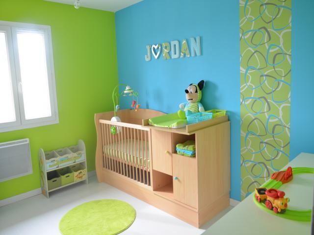 deco chambre bebe garcon bleu et vert populair style pour homme en 2019 pinterest kids. Black Bedroom Furniture Sets. Home Design Ideas