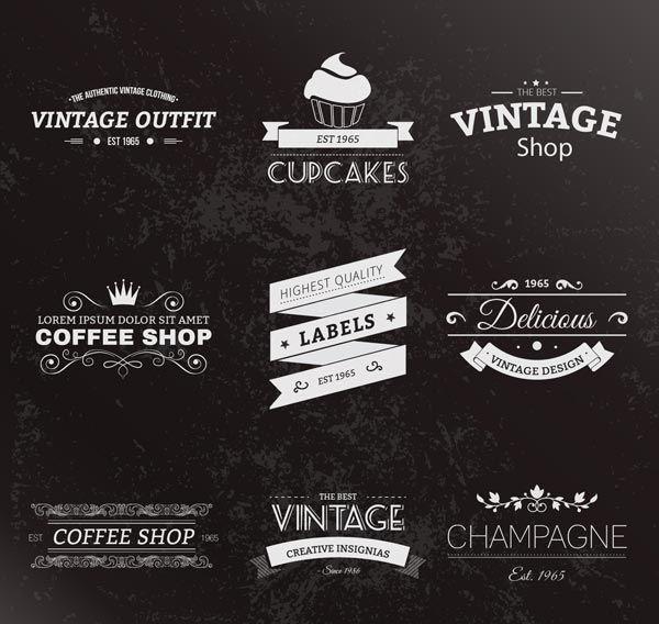 ressources   u2013 44 logos vintages en eps et en ai
