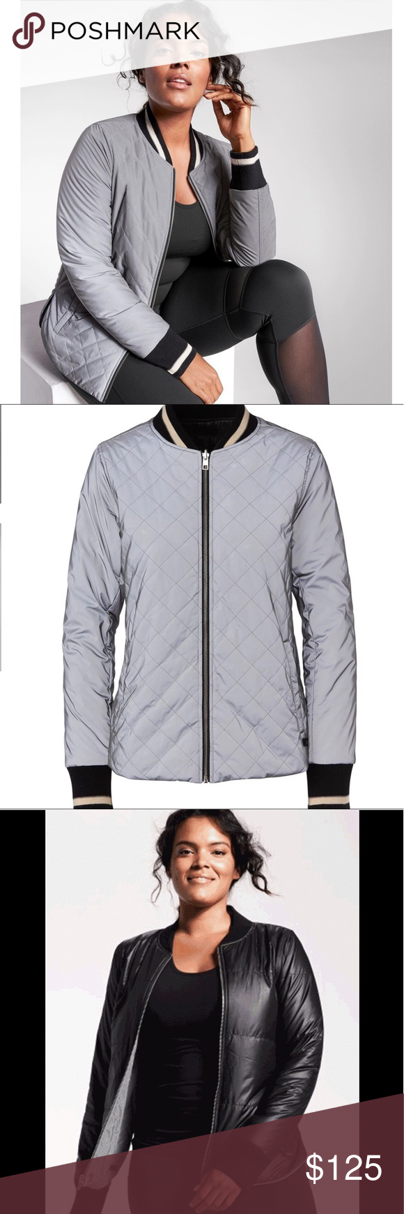 Athleta Reversible Quilted Flash Bomber Clothes Design Quilted Bomber Jacket Fashion Design [ 1740 x 580 Pixel ]