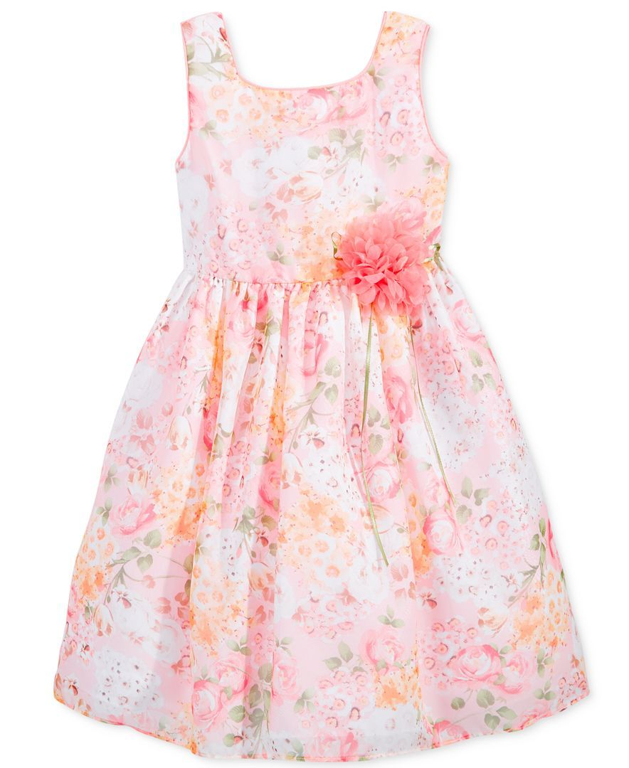 Bella by Marmellata Little Girls\' Floral-Print Chiffon Dress ...