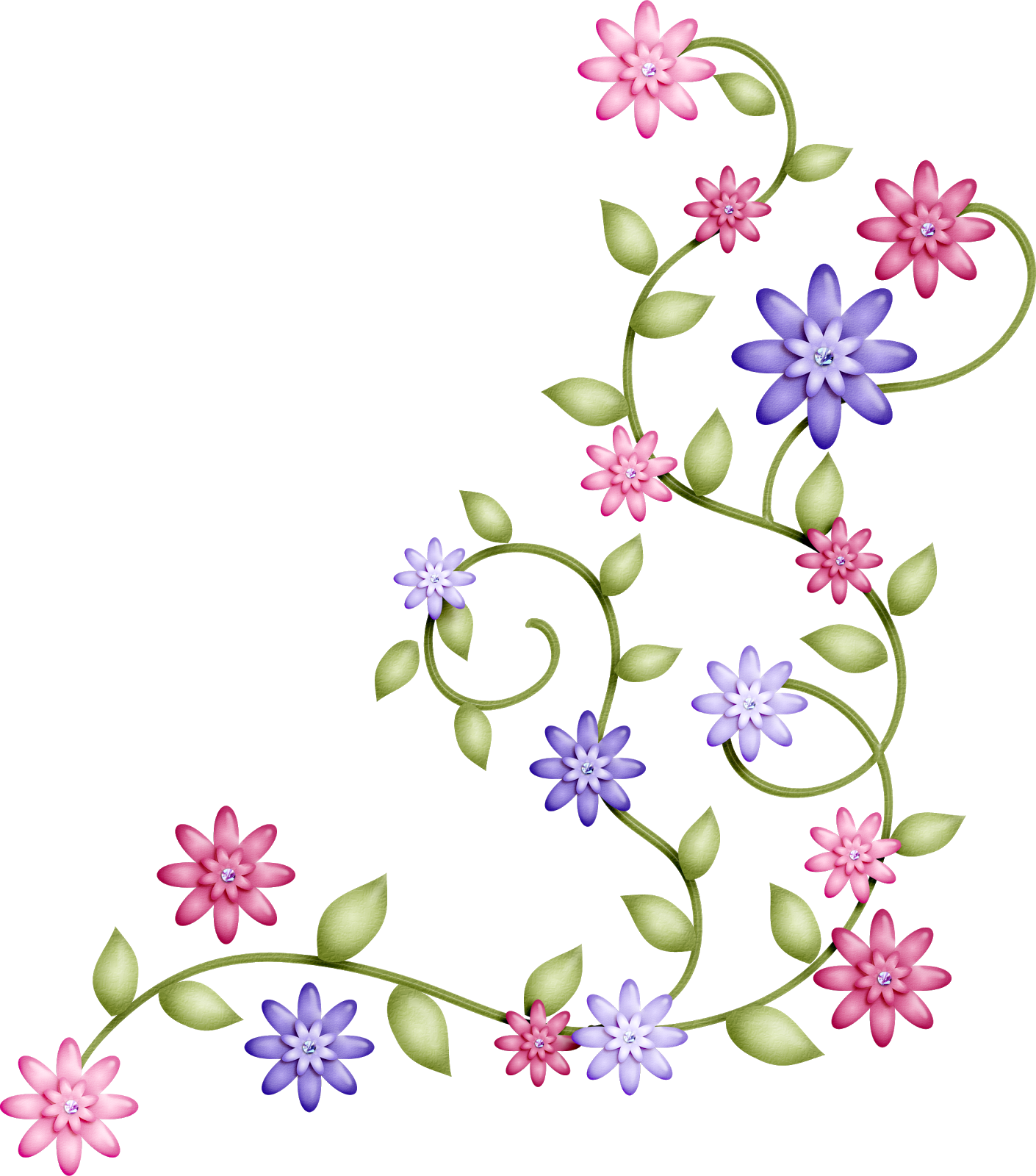 Clip art flores google search para imprimir for Adornos para paginas