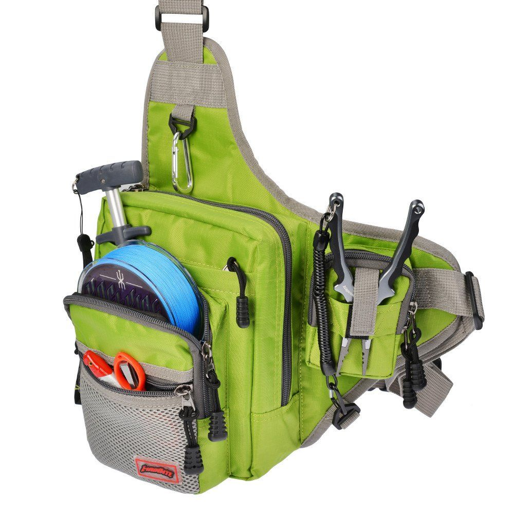 Slingback tackle bags from madbite will last you a for Spiderwire sling fishing backpack