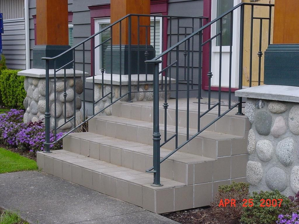 Custom Stair Railing Wrought Iron Stairs Railing Designs Design Stair Railing