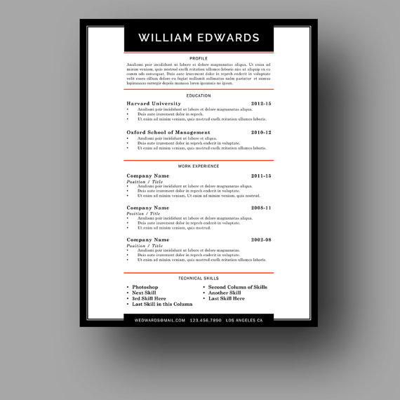 Modern Male Resume Template