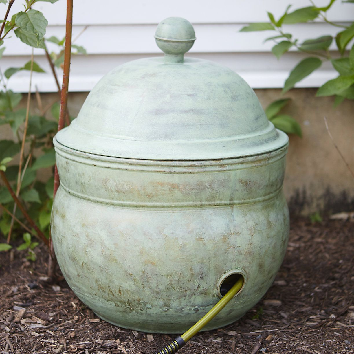Aged Solid Brass Hose Pot