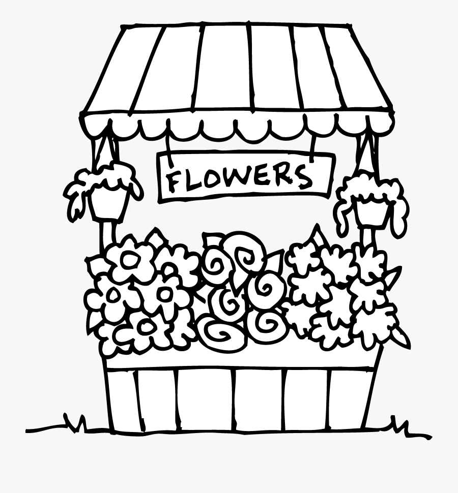 Flower Shop Clipart Black And White Flower Shop Coloring Page Is A Free Transparent Background Clipart Image Clipart Black And White Coloring Pages Clip Art
