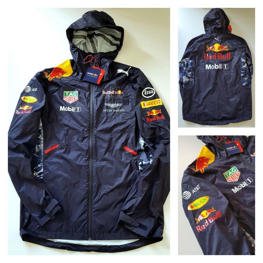 21c2de274b9 Official Puma Red Bull F1 Racing Sponsored Rain Coat Jacket Motorsport Pit  Crew
