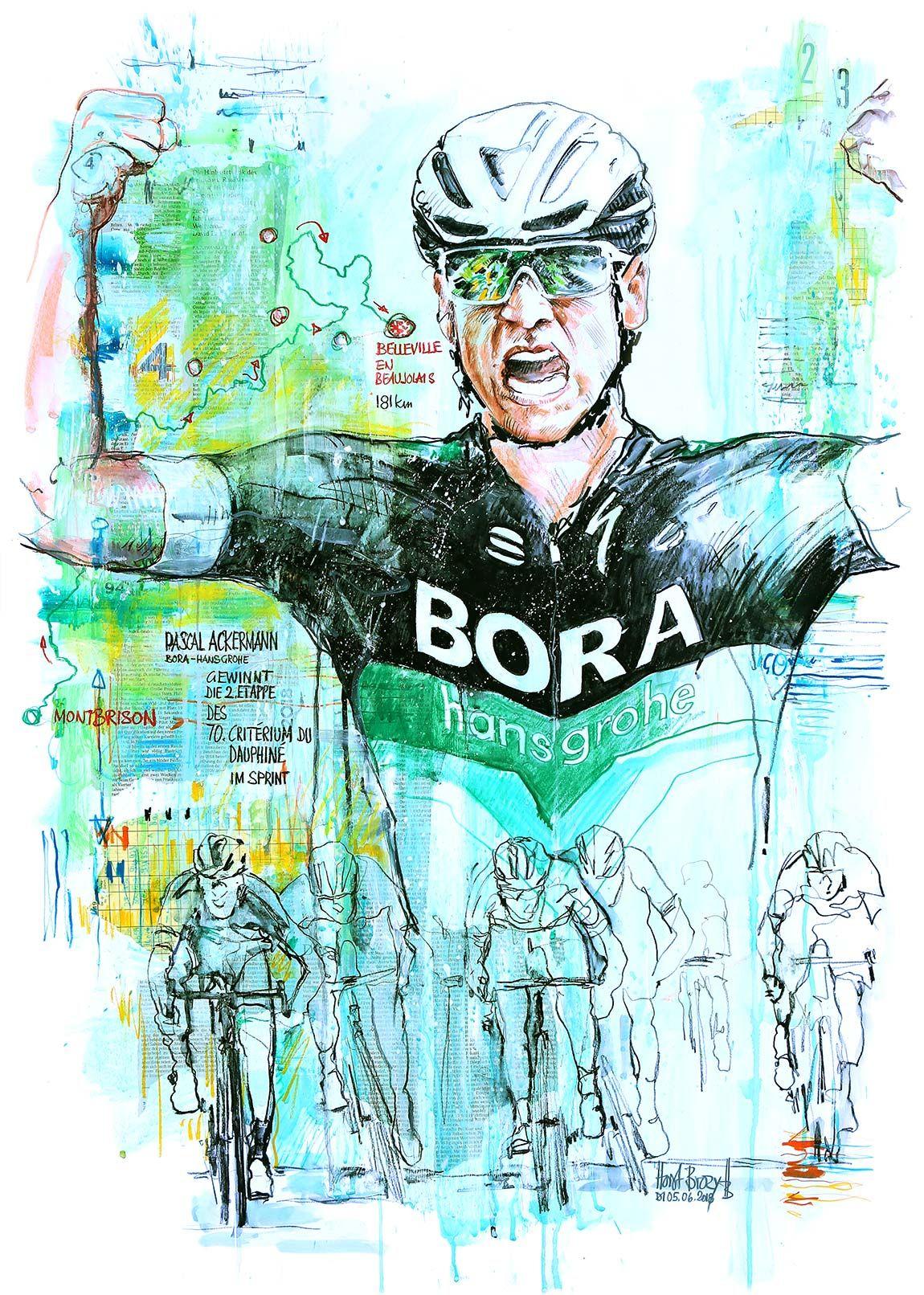 Pascal Ackermann Bora Hansgrohe Gewinnt Die 2 Etappe Des 70