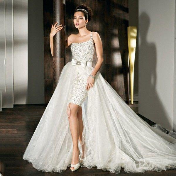 2 in 1 sexy Hochzeitskleid | Brautmode, Hochzeitskleider und Häkeln