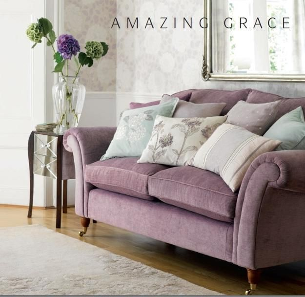 Modern Home Fabrics In Pastel Colors Furniture Upholstery Curtains Bedding Cushions Color Purple Living Room Romantic Living Room Laura Ashley Living Room #pastel #colours #for #living #room