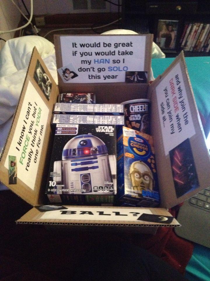 Star Wars promposal I did!