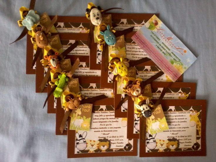 Tarjetas Invitacion Safari O Animalitos De La Selva 2134