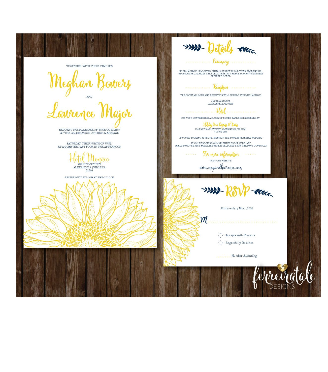 https://www.etsy.com/listing/272611916/sunflower-wedding-invitation ...