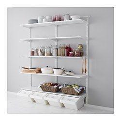 Regalsystem wandschiene ikea  ALGOT Wandschiene/Boden/Haken - IKEA | Keller | Pinterest | Ikea ...