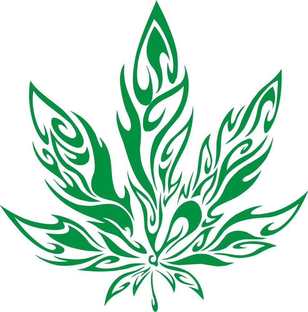 Pot Leaf Decal Wall Art Marijuana Weed Cannabis Rasta 420 Hippie