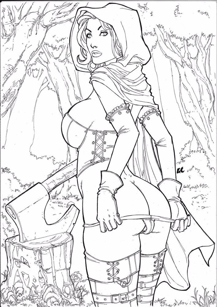 grimm fairy tale coloring pages - photo#13