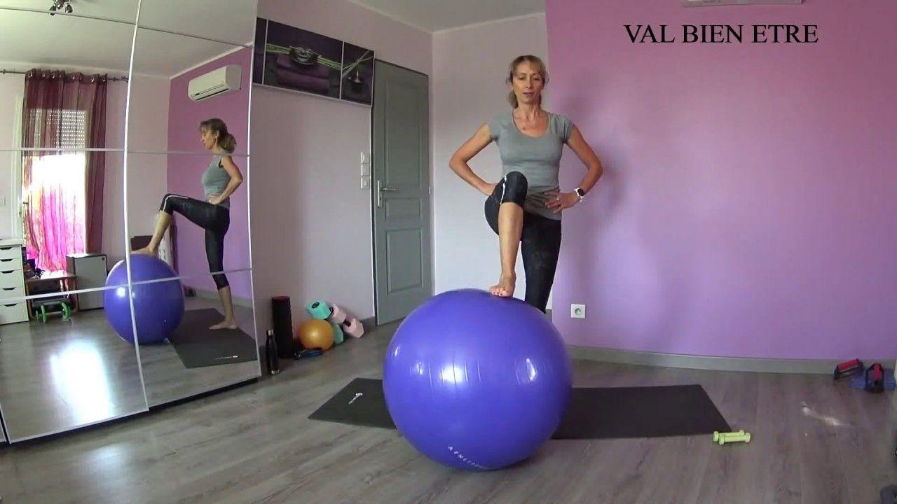 Pilates BALLON Swiss Ball 2. Cours complet , renforcement musculaire