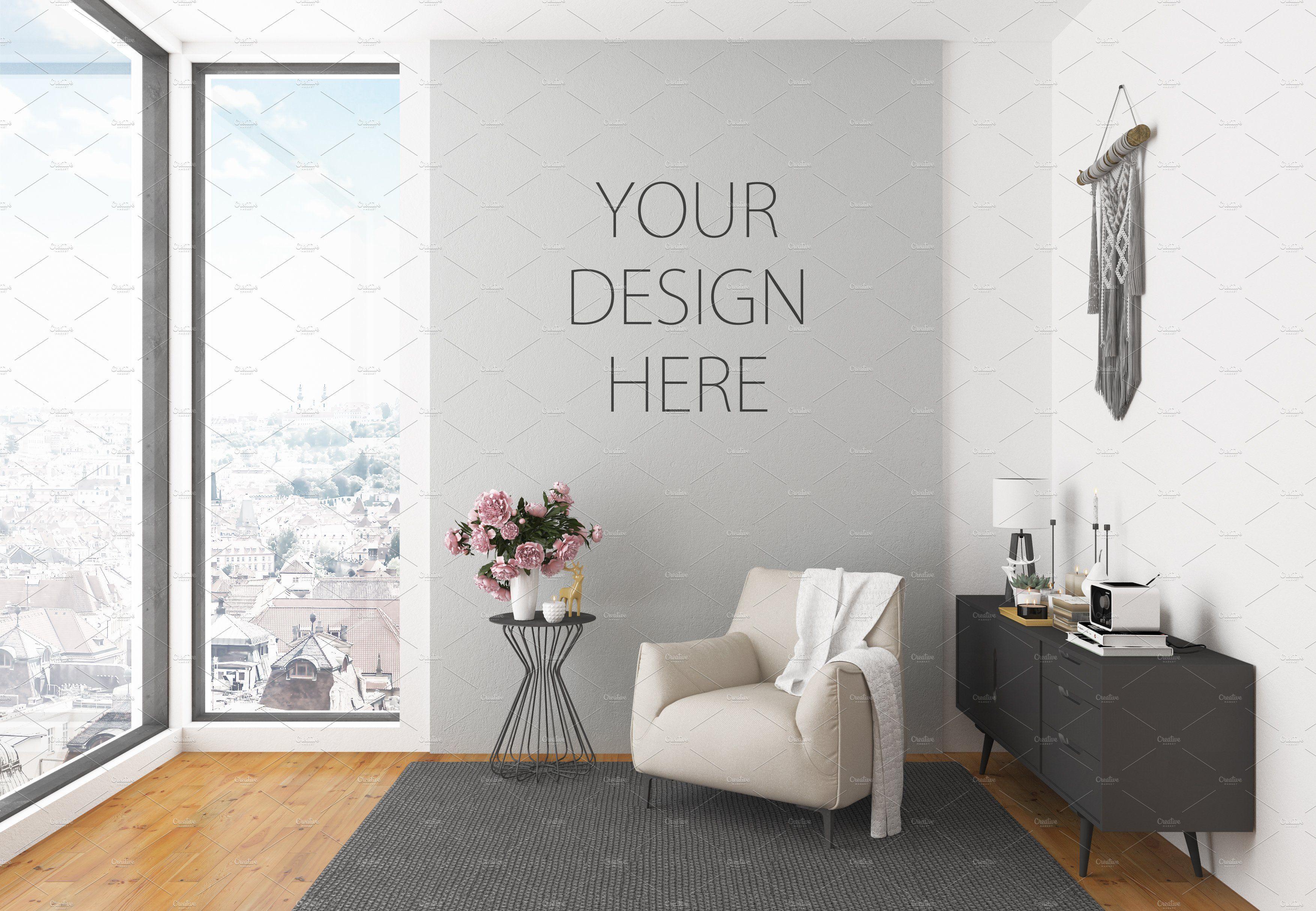 Interior Mockup Artwork Background Design Mockup Free Mockup Design Free Psd Mockups Templates