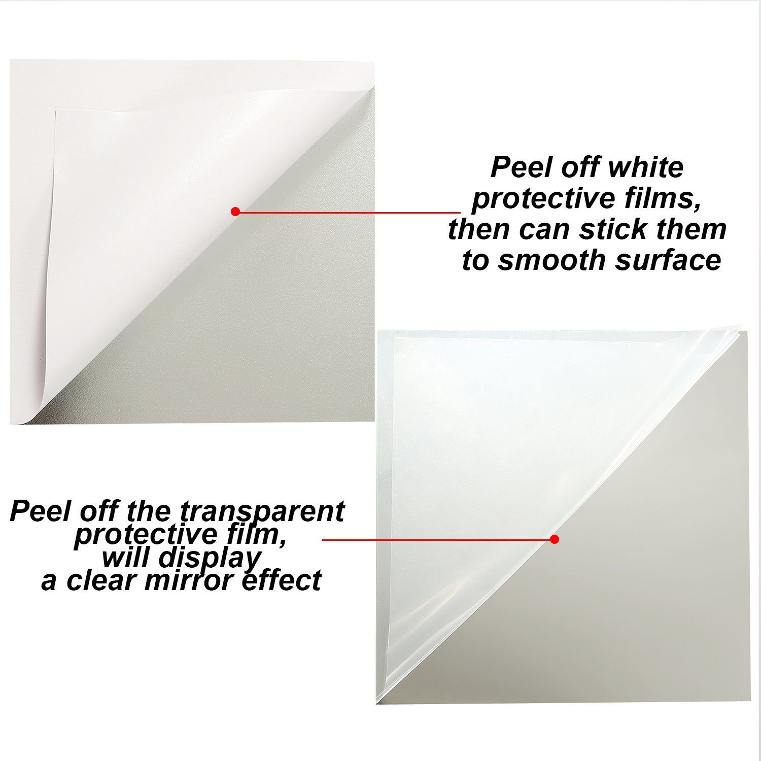 Aneco 24 Sheets Flexible Mirror Sheets Mirror Wall Stickers Self Adhesive Plastic Mirror Tiles For Home Dec Mirror Wall Stickers Glass Mirror Tiles Mirror Wall