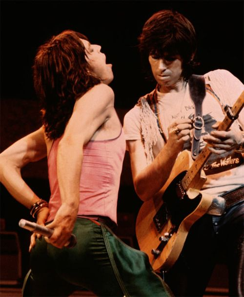 Bluesy British bad boys full of wonderful Rock 'n Roll riffs and lyrics. Keith Richards & Mick Jagger