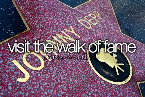 Visit The Walk of Fame