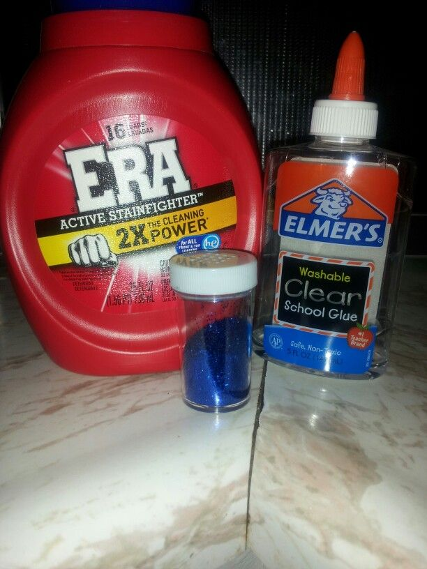 Easy Slime 1 4 Cup Elmers Glue White Or Clear Laundry