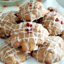 "Cranberry-Pumpkin Cookies | ""Probably my favorite cookies! I make large batches and freeze extra batter for later."""