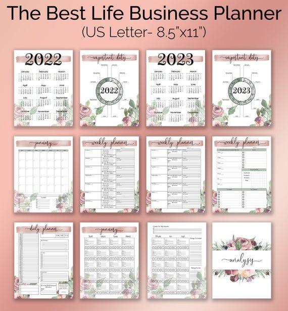 CUSTOMIZABLE Business Planner/Binder Printables- Plum