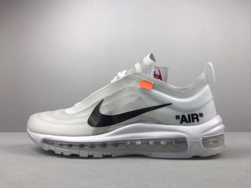 Size Euro 43 Unisex Off-White x Nike Air Max 97 Grey White Black