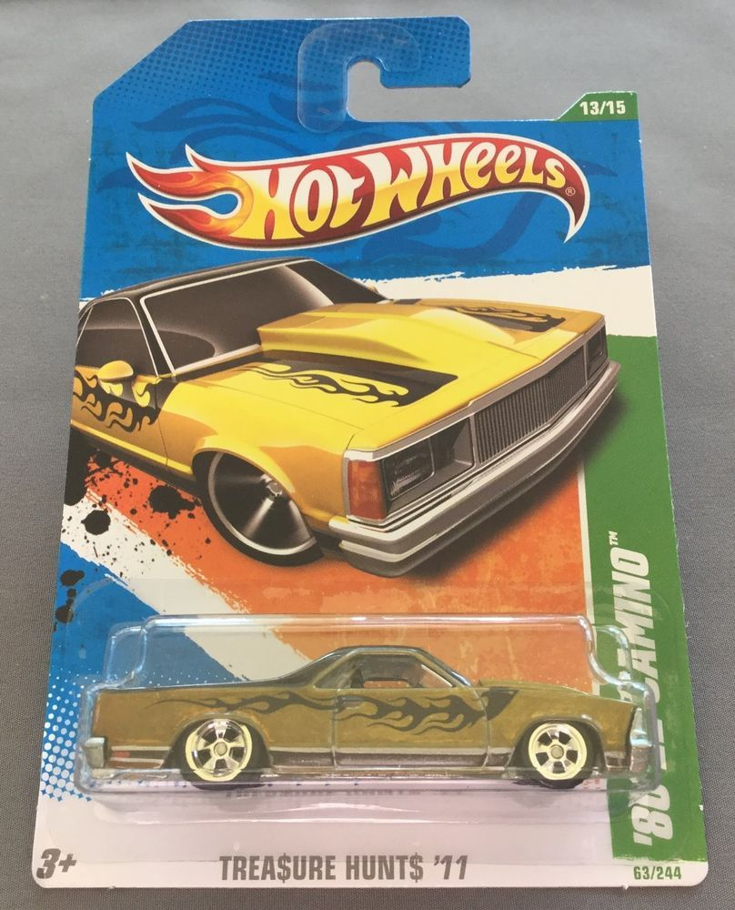 2011 Hot Wheels Super Treasure Hunt 80 El Camino From Redline