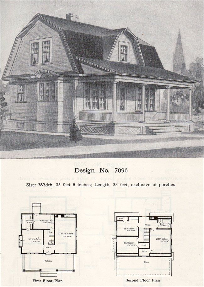 William a radford 1908 house plans dutch colonial for Dutch colonial house plans with photos