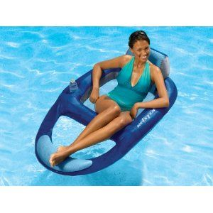 A Super Comfortable Floating Lounger For The Pool And It Has A Cup Holder Pool Floats For Adults Pool Lounger Pool