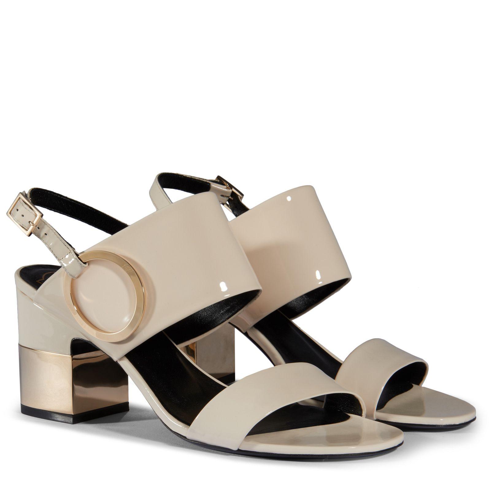 Roger Vivier Podium leather sandals hQZ4WeN4kw