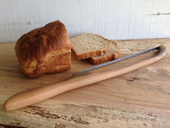 Culinaris Küchenaccessoires ~ Bow brotmesser mit geschnitzten pecan holz behandeln kaufwünsche