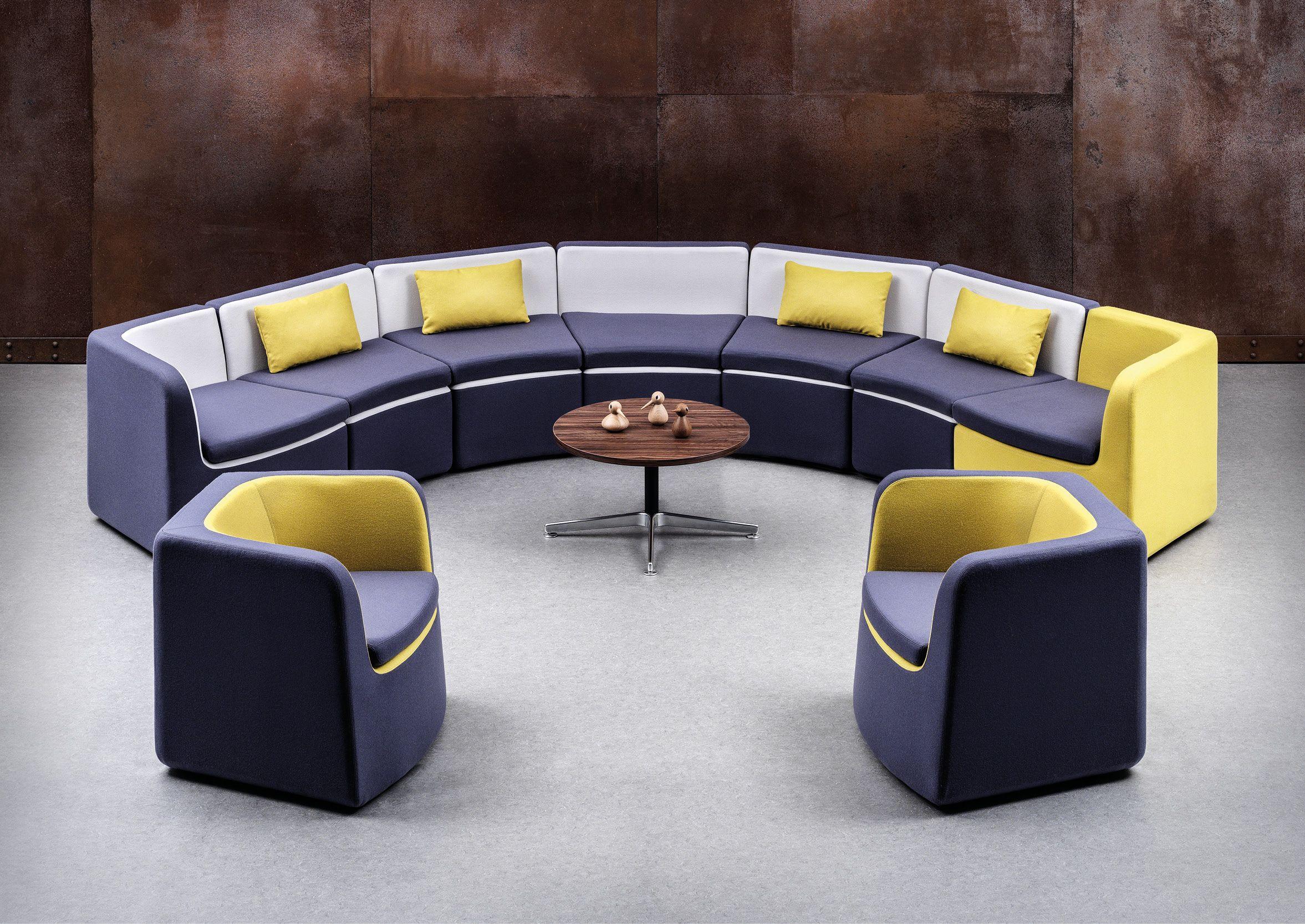 Venus Haven Bench and Haven Media Sofa by Allermuir