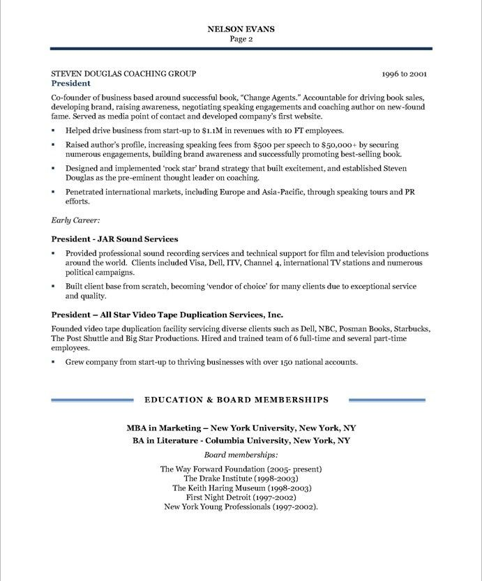 sample resume for community relations manager